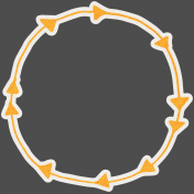 World Traveler Elements Kit- Circular Sticker Frame With Arrows
