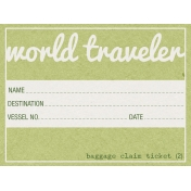 World Traveler Elements Kit- Baggage Claim Ticket