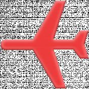 World Traveler Elements Kit-Rubber Airplane 02