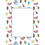 Summer Lovin'- 3x4- Journal Card 08