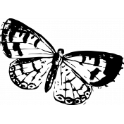Seriously Butterfly 03 Stamp