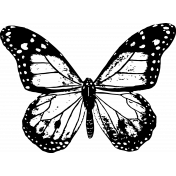 Seriously Butterfly 08 Stamp