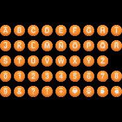 Enamel Bead Alpha Orange