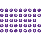 Enamel Bead Alpha Purple