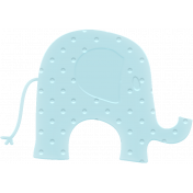 Baby Baby Rubber Elephant Blue