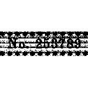 Ephemera Number Bit 01 Tile