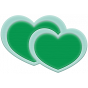 BYB Elements Rubber Heart 2 green