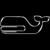 Whale Clip Silver