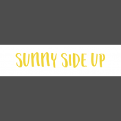 Food Day- Breakfast- Sunny Side Up Wordstrip