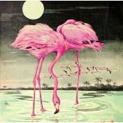 Summer Lovin Elements ephemera flamingo