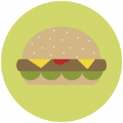 Food Day Collab BBQ circle hamburger