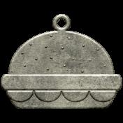 Metal Hamburger Charm