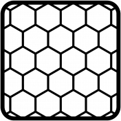 Cut File 12 4x4 Rounded Hexagons