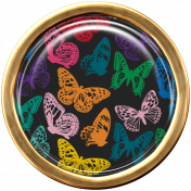 Seriously Butterflies Elements-Round Brad 05