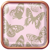 Seriously Butterflies Elements- Square Brad 02