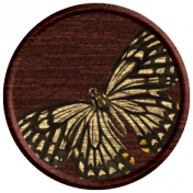 Seriously Butterflies Elements- Round Wooden Brad 02