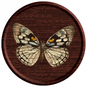 Seriously Butterflies Elements- Round Wooden Brad 03