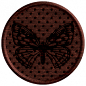 Seriously Butterflies Elements- Round Wooden Brad 04