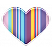 good vibes mini kit puffy heart stripes