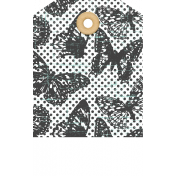 Seriously Butterflies Elements- Hole-Punched Tag 03
