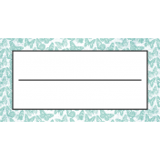 Seriously Butterflies Elements- Label Tag 04