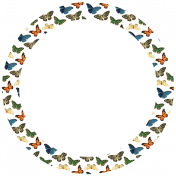 Seriously Butterflies Elements- Circle Tag 04