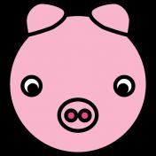 Animal Color Illustrations- Pig