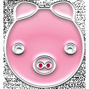 BYB Animals- Enamel Pig