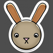 BYB Animals- Bunny Sticker