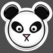BYB Animals- Panda Sticker