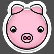 BYB Animals- Pig Sticker