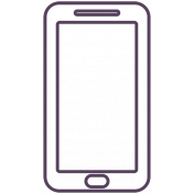 Digital Day Flat Kit- Phone Outline
