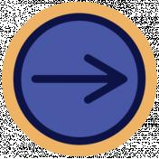 Digital Day Flat Kit- Right Arrow Sticker