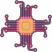 Digital Day Flat Kit- Computer Chip Sticker
