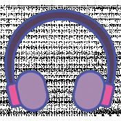 Digital Day Flat Kit- Headphones Sticker