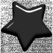 Digital Day Elements- Black Enamel Star