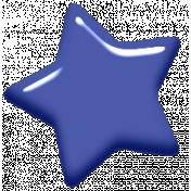 Digital Day Elements- Blue Enamel Star