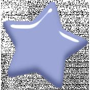 Digital Day Elements- Light Blue Enamel Star