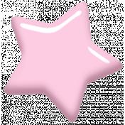 Digital Day Elements- Light Pink Enamel Star