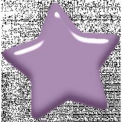 Digital Day Elements- Light Purple Enamel Star