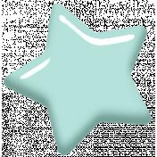 Digital Day Elements- Mint Enamel Star