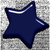 Digital Day Elements- Navy Blue Enamel Star