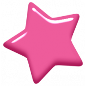 Digital Day Elements- Pink Enamel Star
