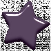 Digital Day Elements- Purple Enamel Star