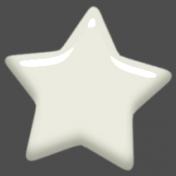 Digital Day Elements- White Enamel Star