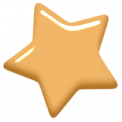 Digital Day Elements- Yellow Enamel Star