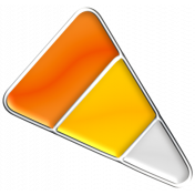 Halloween Enamel Pin- Candy Corn 1