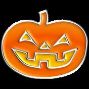 Halloween Enamel Pin- Pumpkin 2