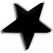 Halloween Enamel Pin- Black Star