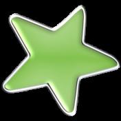 Halloween Enamel Pin- Green Star